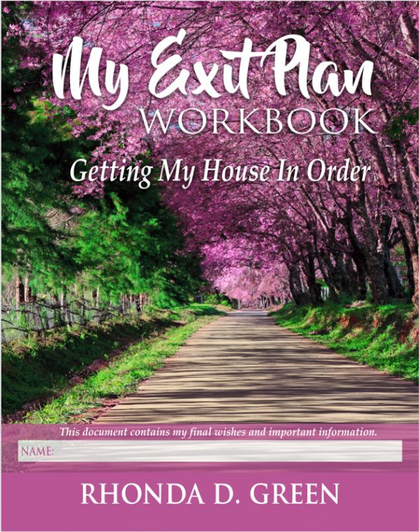 Rhonda D. Green's My Exit Plan Workbook Front Cover